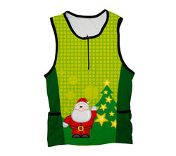 Christmas Santa Triathlon Top