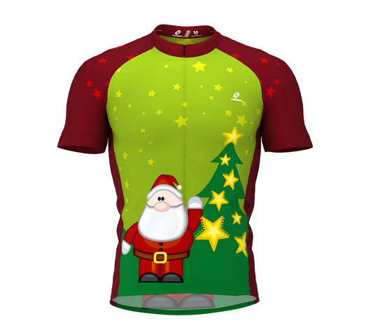 Christmas Santa Short Sleeve Cycling Jersey for Men and Women
