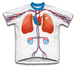 Circulatory System Short Sleeve Cycling Jersey for Men and Women