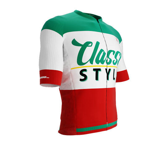 ScudoPro Pro-Elite Short Sleeve Cycling Jersey Retro Classic Style Green |  Men and Women