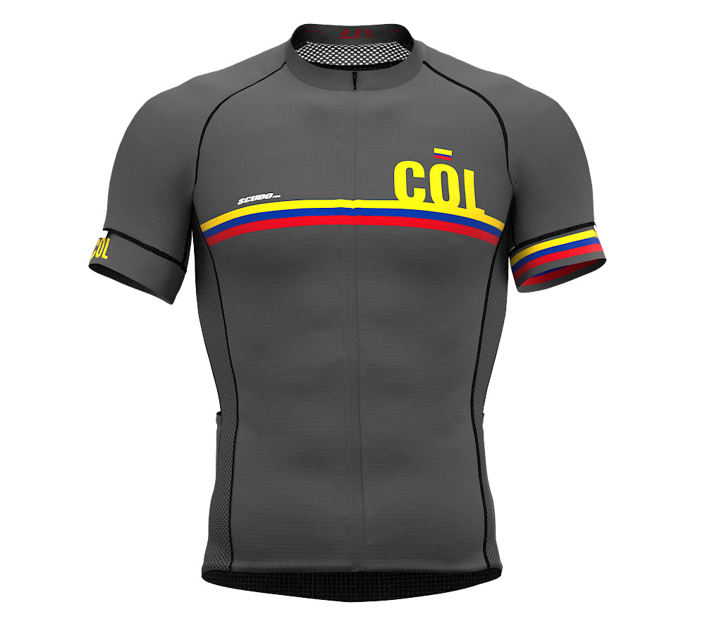 Colombia Gray CODE Short Sleeve Cycling PRO Jersey for Men and WomenColombia Gray CODE Short Sleeve Cycling PRO Jersey for Men and Women