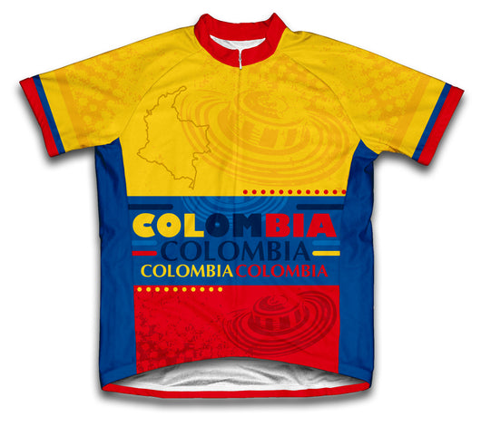 Colombia Short Sleeve Cycling Jersey for Men and Women