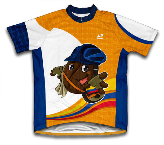 Colombian Coffee Short Sleeve Cycling Jersey for Men and Women