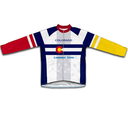 Colorado Flag Winter Thermal Cycling Jersey
