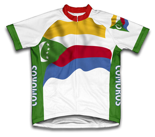Comoros Flag Cycling Jersey for Men and Women
