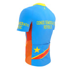 Congo Republic  Full Zipper Bike Short Sleeve Cycling Jersey