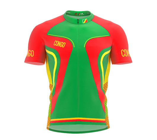 Congo   Full Zipper Bike Short Sleeve Cycling Jersey