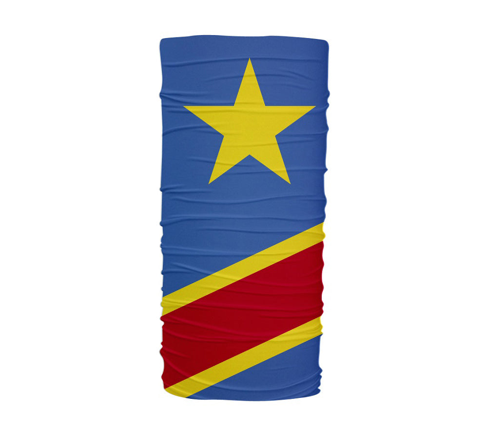 Congo Republic Flag Multifunctional UV Protection Headband