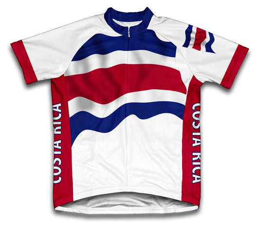 Costa Rica Flag Cycling Jersey for Men and Women
