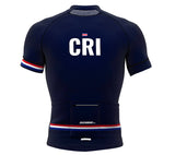 Costa Rica Blue CODE Short Sleeve Cycling PRO Jersey for Men and Women