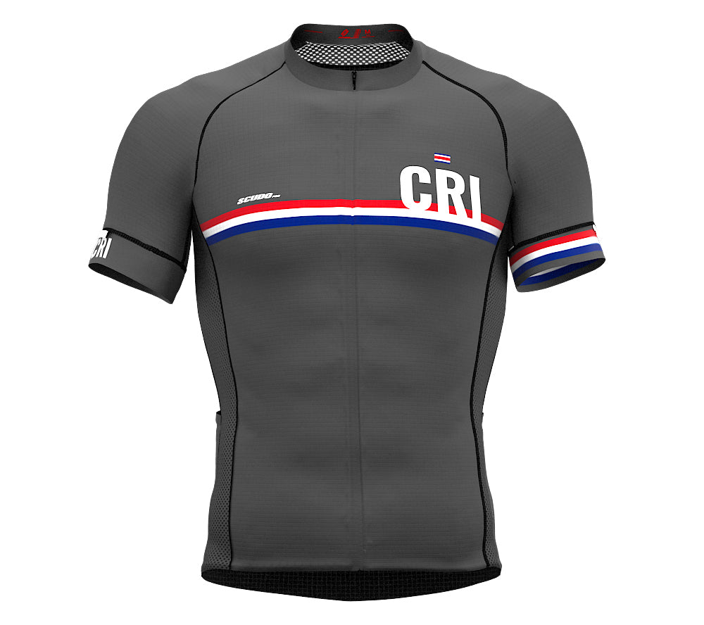 Costa Rica Gray CODE Short Sleeve Cycling PRO Jersey for Men and WomenCosta Rica Gray CODE Short Sleeve Cycling PRO Jersey for Men and Women