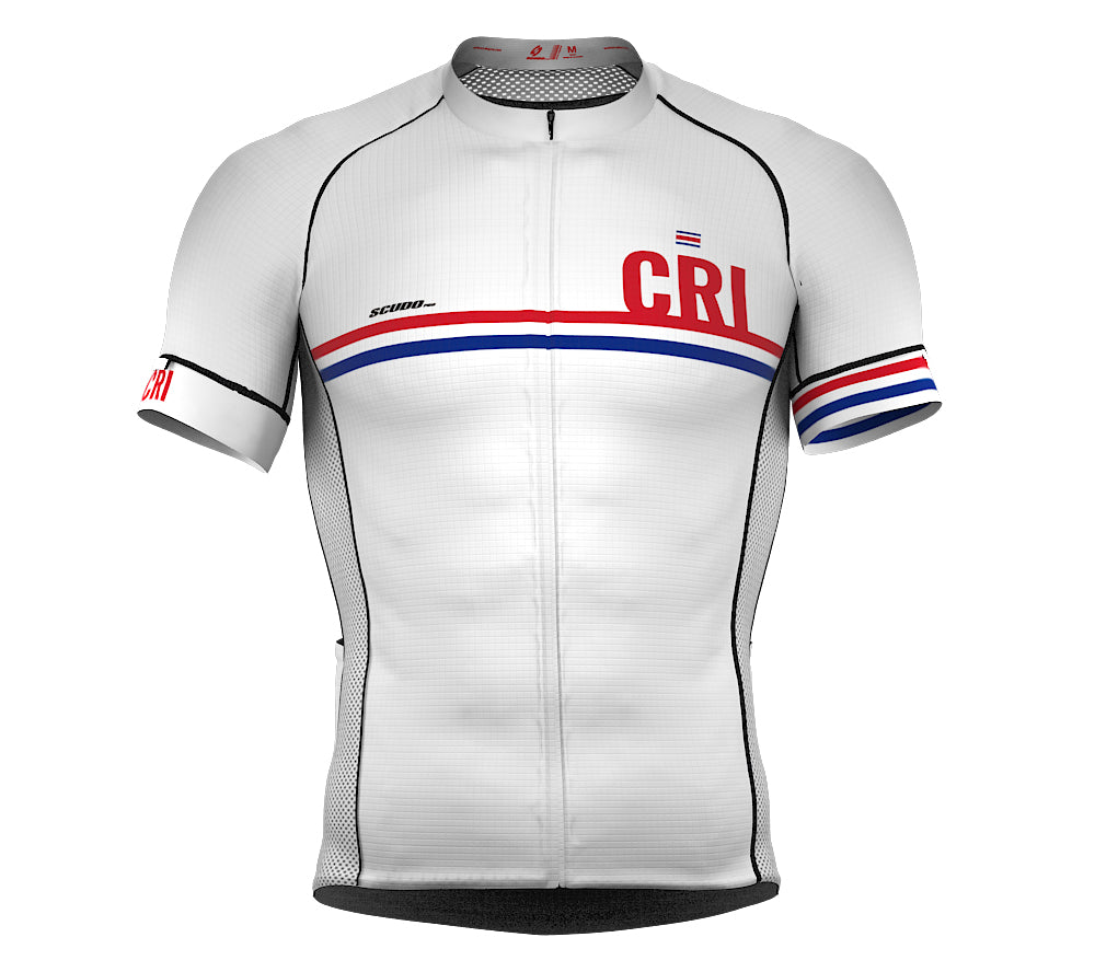 Costa Rica White CODE Short Sleeve Cycling PRO Jersey for Men and WomenCosta Rica White CODE Short Sleeve Cycling PRO Jersey for Men and Women