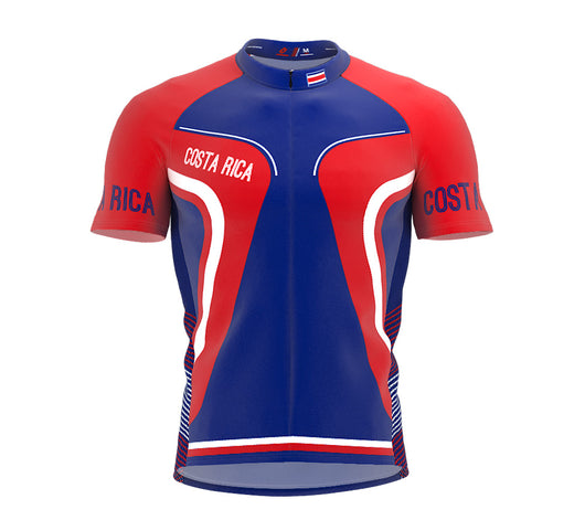 Costa Rica  Full Zipper Bike Short Sleeve Cycling Jersey