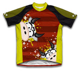 Cowlicious Short Sleeve Cycling Jersey for Men and Women
