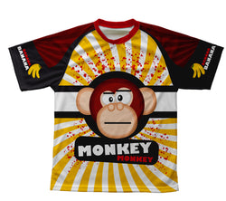 Crazy Banana Monkey Technical T-Shirt for Men and Women