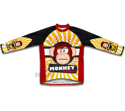 Crazy Banana Monkey Winter Thermal Cycling Jersey