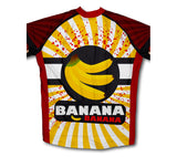 Crazy Banana Monkey Short Sleeve Cycling Jersey for Men and Women