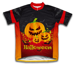 Creepy Pumpkins Short Sleeve Cycling Jersey for Men and Women