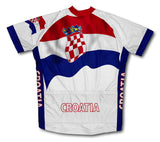 Croatia Flag Cycling Jersey for Men and Women