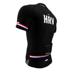 Croatia Black CODE Short Sleeve Cycling PRO Jersey for Men and Women