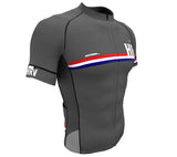 Croatia Gray CODE Short Sleeve Cycling PRO Jersey for Men and Women