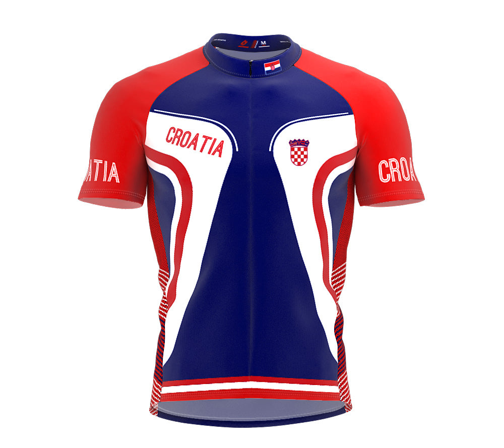 Croatia  Full Zipper Bike Short Sleeve Cycling Jersey