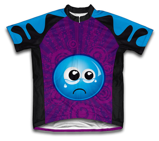 Crying Eyes Short Sleeve Cycling Jersey for Men and Women
