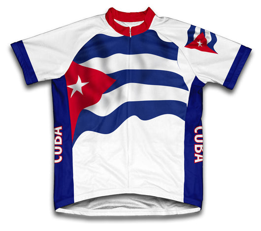 Cuba Flag Cycling Jersey for Men and Women