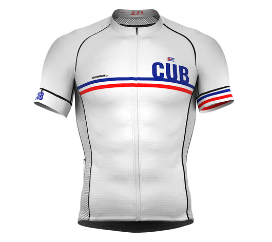 Cuba White CODE Short Sleeve Cycling PRO Jersey for Men and WomenCuba White CODE Short Sleeve Cycling PRO Jersey for Men and Women