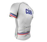 Cuba White CODE Short Sleeve Cycling PRO Jersey for Men and Women
