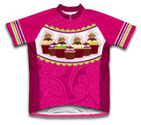 Cup Cake Short Sleeve Cycling Jersey for Men and Women