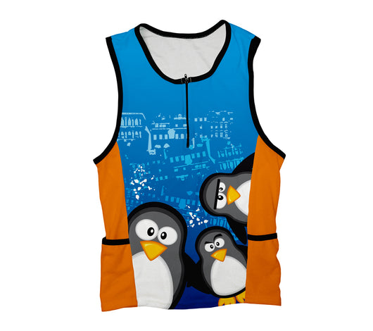Curious Penguins Triathlon Top