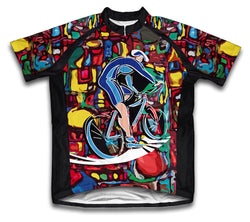 Cyclist Art Short Sleeve Cycling Jersey for Men and Women