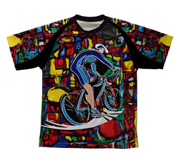 Cyclist Art Technical T-Shirt for Men and Women
