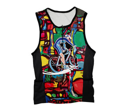 Cyclist Art Triathlon Top