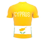 Cyprus  Full Zipper Bike Short Sleeve Cycling Jersey