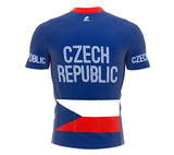 Czech Republic  Full Zipper Bike Short Sleeve Cycling Jersey