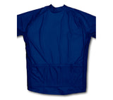 Keep Calm and Never Give Up Dark Blue Winter Thermal Cycling Jersey
