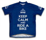 Keep Calm and Ride a Bike Dark Blue Cycling Jersey