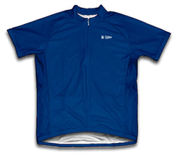 Dark Blue Short Sleeve Cycling Jersey for Men and Women