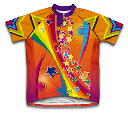 Dazzling Stars Short Sleeve Cycling Jersey for Men and Women