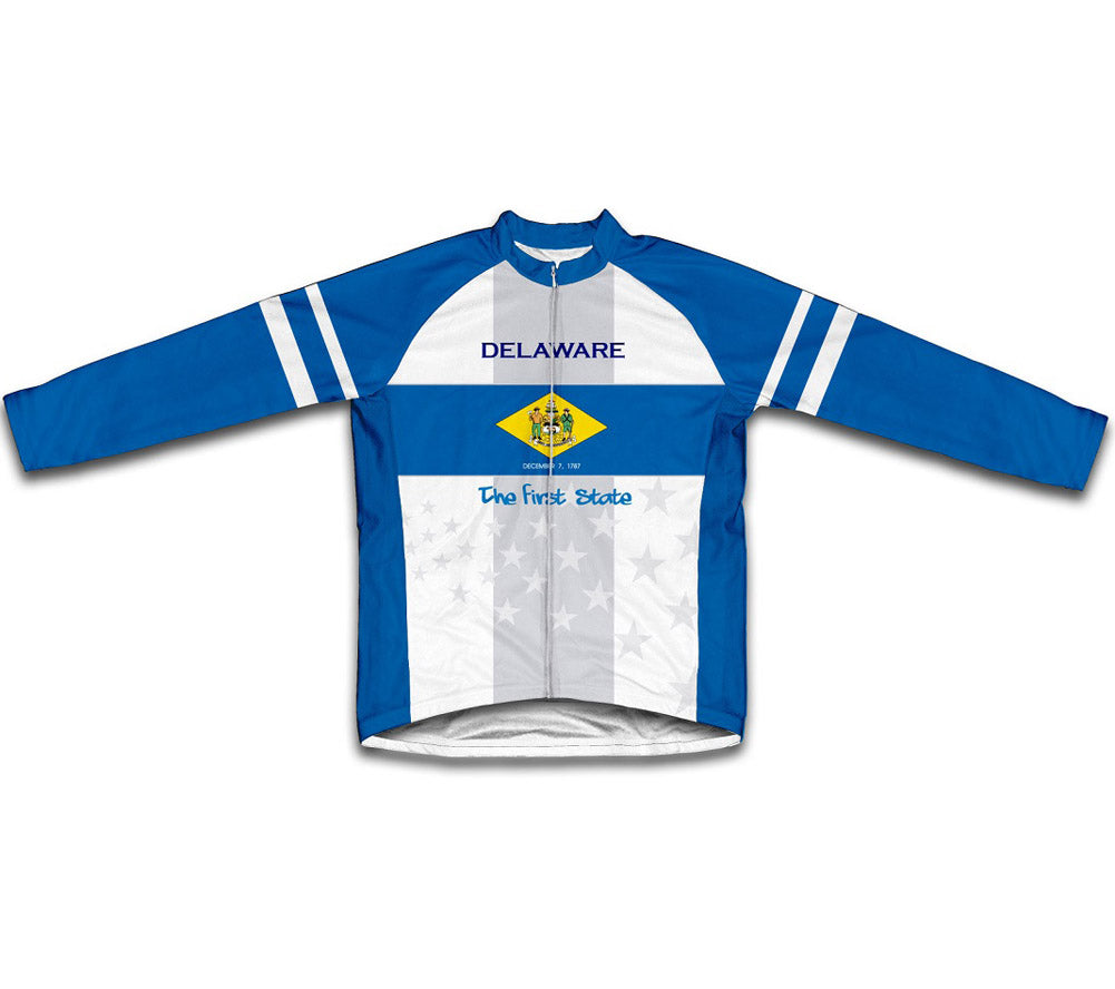 Delaware Flag Winter Thermal Cycling Jersey