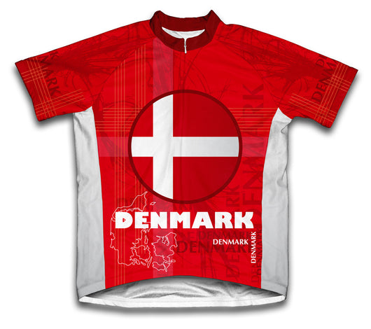 Denmark Short Sleeve Cycling Jersey for Men and Women