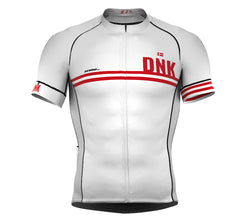 Denmark White CODE Short Sleeve Cycling PRO Jersey for Men and WomenDenmark White CODE Short Sleeve Cycling PRO Jersey for Men and Women