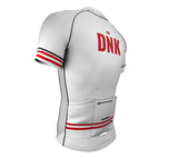 Denmark White CODE Short Sleeve Cycling PRO Jersey for Men and Women