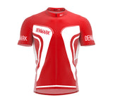 Denmark  Full Zipper Bike Short Sleeve Cycling Jersey