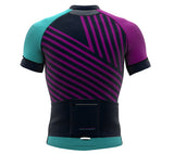 Diagonals Gray Short Sleeve Cycling PRO Jersey