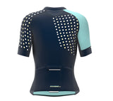 Diagonals Ice Blue Short Sleeve Cycling PRO Jersey