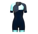 Diagonals Ice Blue Scudopro Cycling Skin Suit Short Sleeve for WomanDiagonals Ice Blue Scudopro Cycling Skin Suit Short Sleeve for Woman