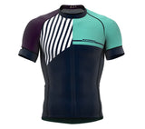 Diagonals Purple Short Sleeve Cycling PRO Jersey